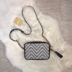 Michael Kors All Leather Woven Crossbody- NWT